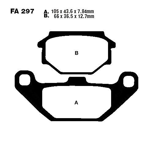 EBC Bremsklötze Standard f. SYM Husky 125 uvm. FA297 5050953003653 Motorrad