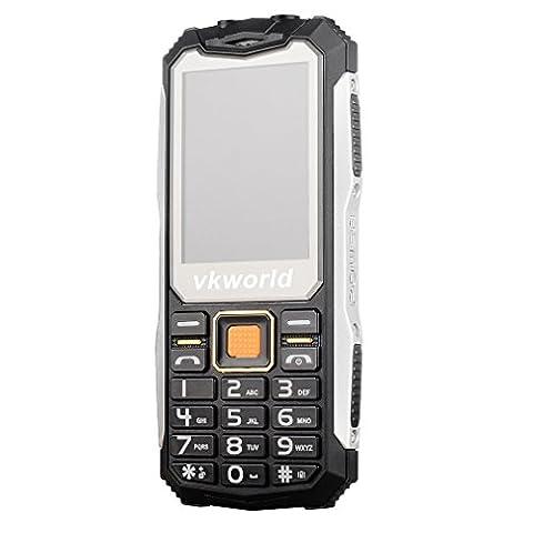 Handy 2G VKWorld Stone V3S 2.4 inch QCIF(240X320) Wasserdicht Staubdicht Stoßfest Mobiltelefon für Senioren 0.3MP 32M+32M Dual SIM Ohne Vertrag GSM unterstützung NFC Outdoor Entsperrt (Sim Ohne Vertrag)