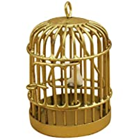 Jaula de casa de muneca - TOOGOO(R) 1:12 Jaula de pajaro en miniatura de casa de muneca de metal