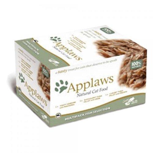 Applaws Cat Pots Multipack mit Fisch Selection | 8 x 60g Katzenfutter -