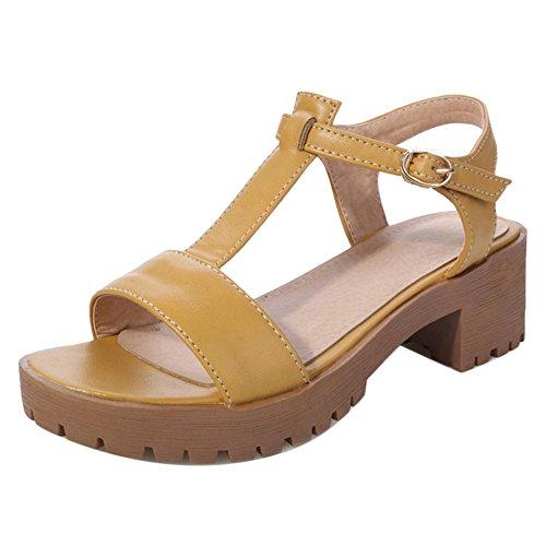 JOJONUNU Femmes Salomes Sandales yellow
