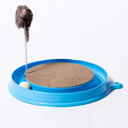Yshen Premium-Sisalteppich Katze Kätzchen Turbo Scratching Pad Brett Spielzeug mit Ball Maus Training Spielen lustige Lieferungen (Katze Spielzeug Turbo Scratcher)