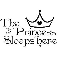 Pegatinas de Pared Sticker de Frases de Paredes The Princess Sleeps Here Decoración de Paredes