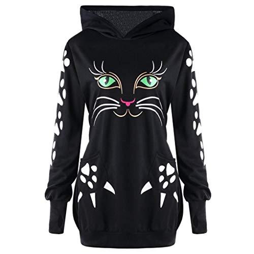 Aitos Kapuzenpullover Damen Hoodie Sweatshirt Top Streifen Hipster Mode Lässige Herbst Winter (Schwarz,Rot, Grau, Blau/S,M,L,XL,XXL) 3
