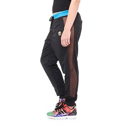 Pantalones adidas – Loose Rita Ora Negro/Azul Sol/Rojo Sol 40