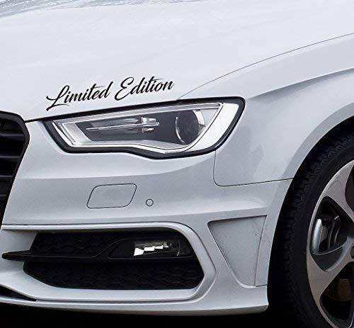 printy7 Aufkleber Sport Performance M Limited Edition Sports Mind Tuning Motorhaube Auto (Silbergrau Glanz 090)