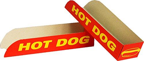 Self-Pack-Container - Hot Dog Box - 50 Einheiten - zum Mitnehmen (Einheit Box)