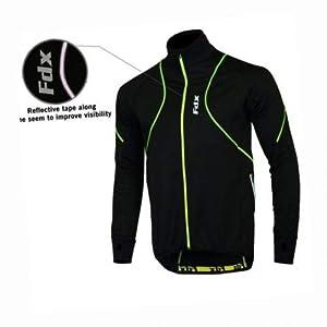 FDX Herren Hochleistungsjacke, Thermo-Windjacke zum Laufen und Fahrradfahren, gute Sichtbarkeit