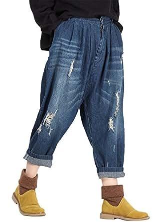 vogstyle damen neue zerrissene jeans mode collapse. Black Bedroom Furniture Sets. Home Design Ideas