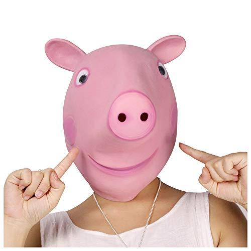 Maske YN Luxus-Neuheit Peppa Pig Ferkelmaske Tierwelt Eltern-Kind-Kostüm Spielen