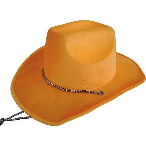 Stetson vaquero de terciopelo, de color naranja