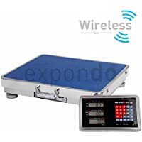 Steinberg Systems - Bilancia a piattaforma SBS-PF-A150/20 - 150 kg Campo di misura / 20 g precisione - display radiocomandato - con pratica maniglia per facilitarne il trasporto