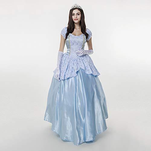 YyiHan Halloween Kostüm, Outfit Für Halloween Fasching Karneval Halloween Cosplay Horror Kostüm,Blue Palace Kostüm Halloween Kostüm Prinzessin Sissi Märchen - Prinzessin Sissi Kostüm