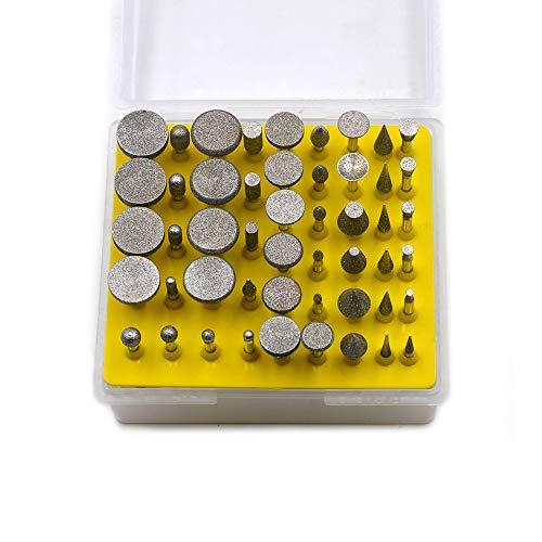 Oudtinz - Juego de 50 fresas de molienda con revestimiento de diamante para herramienta giratoria Dremel