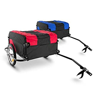 remolque para bicicletas con dos ruedas en dos colores