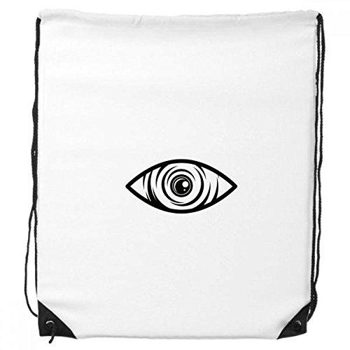 DIYthinker Schwarz Dekoration Eye Vektor-Muster-Rucksack-Shopping Sport Taschen Geschenk