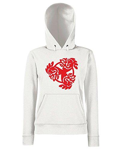 T-Shirtshock - Sweats a capuche Femme FUN0790 bird birds animal car or wall vinyl decal sticker 36 03758 Blanc