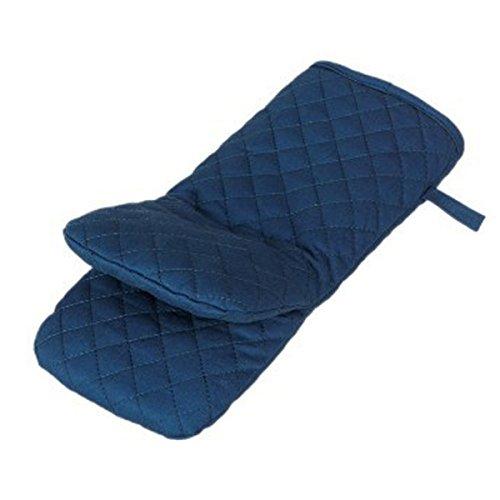 XGMSD Cottura Al Forno Guanti Da Forno Isolamento Antiscottatura Slittamento Guanti Multicolore Lunghezza 28cm Larghezza 11 Centimetri Set Di 4.,Navy - Navy Blue Slittamento
