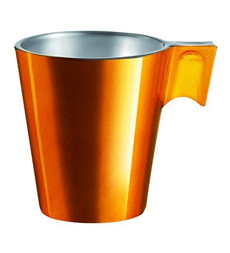 Luminarc 8010152 llamativo juego de tazas de café de 6 Gris/8 x 6 x 5 cm