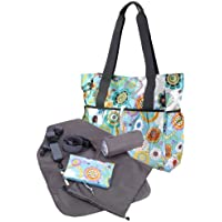 Tiny Tillia Blue Florette Baby Changing Tote Bag
