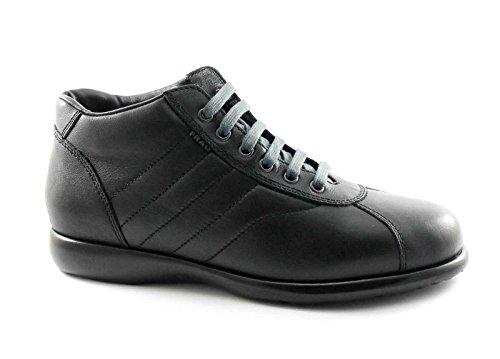 FRAU 27M4 homme noir peau chaussures milieu des bottes de randonnée de confort