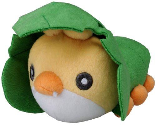 Pokemon: Best Wishes! (Schwarz + Weiß) Stofftier / Plüsch Figur: Strawickl / Sewaddle 15 cm (T.T.)