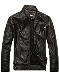 Coats, Jackets & Vests Damen Lederjacke Biker Jacke Kunstlederjacke Lederimitat Übergangsjacke Knitter