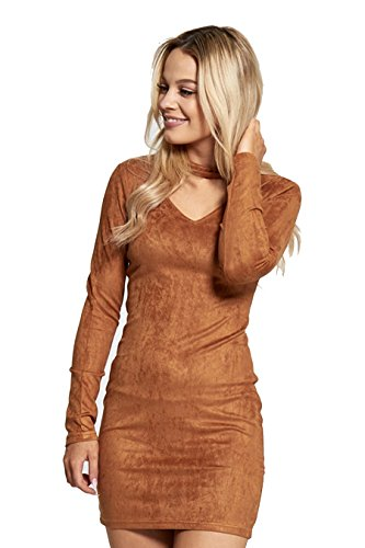 7 Fashion Road Damen Schlauch Kleid Camel