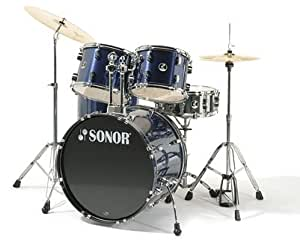 SONOR FORCE 507 - BRUSHED BLUE Batterie acoustique Standard