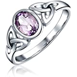 Bling Jewelry Sterling Silber Keltisches Triquetra Amethyst Ring