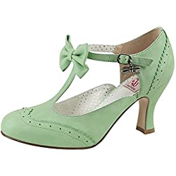 Kitten Pumps in Mintgrün FLAPPER-11 Grün, EU 39