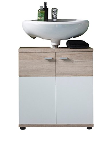 Trendteam 1316-301-9 mobile sottolavabo san remo, 60 x 65 x 35 cm, bianco opaco