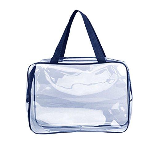 Topdo Sac Transparent de Stockage de Sac cosmétique de Lavage Imperméable de PVC Transparent 30*10*22cm