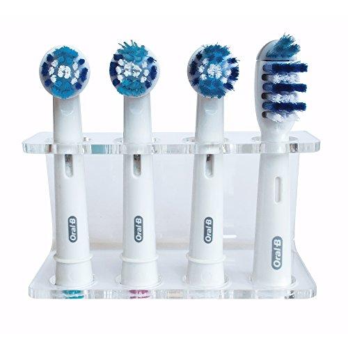 Seemii Zahnbürstenhalter für elektrische Bürstenköpfe - Natürlich, Plastik, 4 Kopf Halter