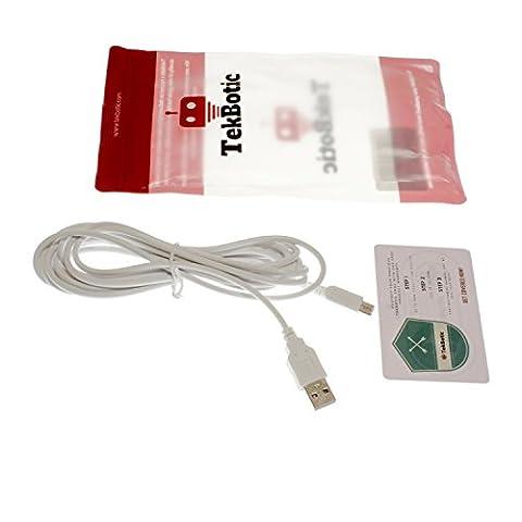 tekbotic ChargePlay 3DS Ladegerät (10 Fuß) - 3DS USB Kabel mit erhöhter Lebensdauer und Steckverbinder mit sicherem Sitz für Nintendo 3DS / New 3DS XL / 2DS / DSi / DSi