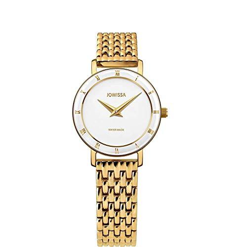 Jowissa Roma Swiss J2.286.S - Reloj de Pulsera para Mujer, Color Blanco y Dorado