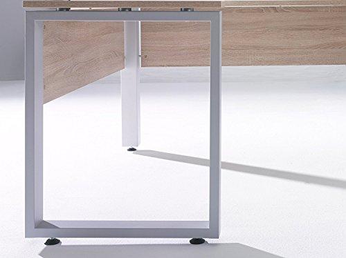 arbeitszimmer komplett set maja system 1203 buromobel in eiche sonoma hochglanz grau mobelbilliger de