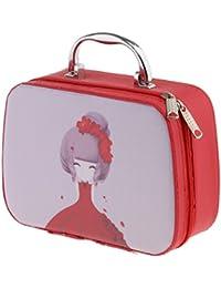 MagiDeal Make-up Case, Make-up Tasche Kosmetiktasche Reise Make-up Handtasche wasserfest. Perfektes Geschenk für Damen Mädchen - Stil d