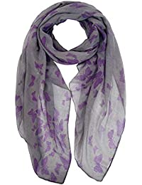 a0a637da3 Ladies Women's Fashion Butterfly Print Long Scarves Floral Neck Scarf Shawl  Wrap by DiaryLook