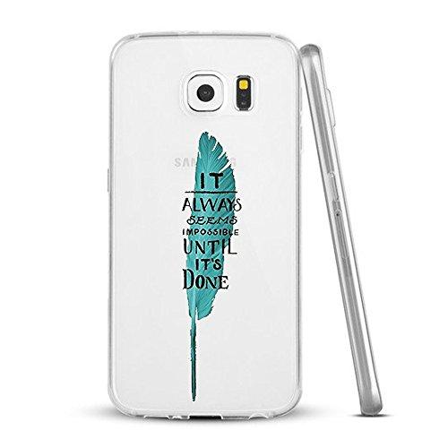 Vanki® Coque Galaxy S6 Edge, Motif de mot personnalisé Ultra transparente silicone en gel TPU souple Coque de Bumper et Anti Scratch Shock Absorption for Samsung Galaxy S6 Edge 4