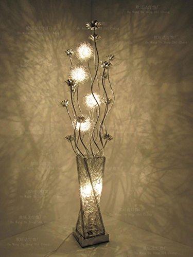 FUHOAHDD LED-Stehleuchte, künstlerisches Stehlampe, Clorful Dekoration Beleuchtung, Antirust Aluminium Material, LED Warme Lichter, Fußschalter -