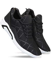 Zenwear Men's Canvas Black Lace-Up Sports Shoes