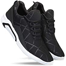 Zenwear Men's Canvas Black Lace-Up Sports Shoes