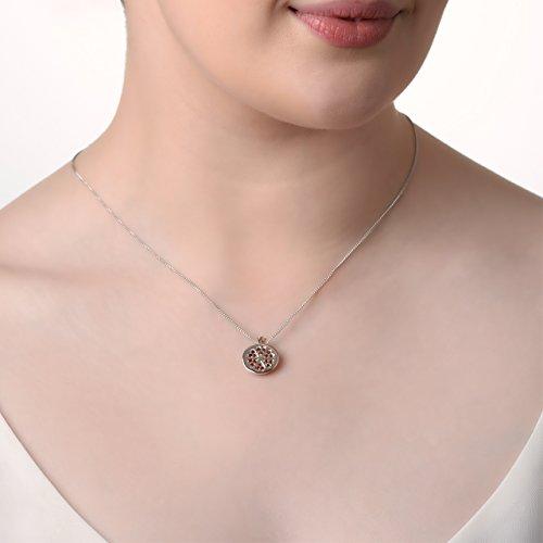 Clogau Women 925 Sterling Silver Garnet Pendant 3SPMRP UShAOiSy