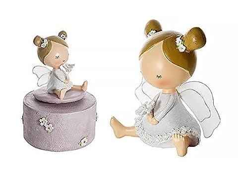 Tirelire Bébé fille fée et Boite à Musique pour baptême et baby shower - Cadeau pour bébé ou petite fille