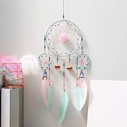 display08 Atrapasuenos de Plumas sinteticas para el hogar, Dormitorio, decoracion para Colgar en la Pared