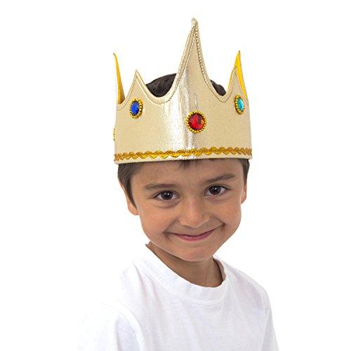 Kind Zahnfee Kostüm - Lucy Locket-Goldener Krone König für Kinder (3-8Jahre)