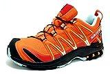 Salomon Damen Xa Pro 3D GTX W Traillaufschuhe, Orange (Black/Canal Blue), 41 1/3 EU