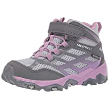 Merrell Kids' M-Moab Fst Mid A/C Waterproof Fitness Shoes, Multicolour (Grey/Purple), 5 UK 37 EU