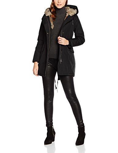 Canadian Classics Damen Parka Lanigan Real Fur, Schwarz (Black Bla), 34 (Herstellergroesse: XS (IT40)